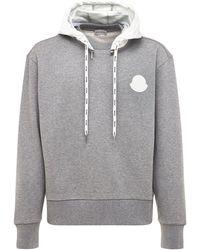 Moncler Свитшот Из Хлопка С Логотипом - Серый