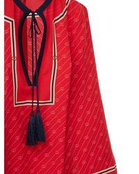 Gucci Шелковое Платье - Красный