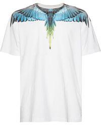 Marcelo Burlon Wings コットンジャージーtシャツ - ホワイト