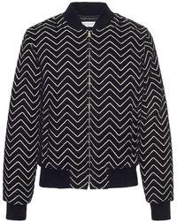 Saint Laurent Куртка Zig Zag - Черный