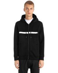 Neil Barrett - Hooded Printed Neoprene Sweatshirt - Lyst