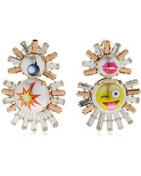 Bijoux De Famille - Emoji Live Fast Clip-on Earrings - Lyst