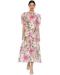 Dolce & Gabbana - フロックドオーガンザ ミニドレス - Lyst
