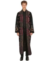 Etro - Carpet Ride Wool Jacquard Long Coat - Lyst