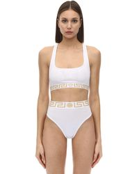 Versace Top De Jersey Tech Stretch - Blanco