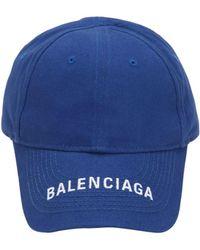 c8e3a494910 Balenciaga - Logo Embroidered Cotton Baseball Hat - Lyst