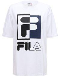 Fila - コットンtシャツ - Lyst