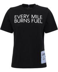 McQ Foam コットンジャージーtシャツ - ブラック