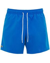 Lacoste Short De Bain En Nylon - Bleu