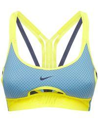 Nike Sport-bh Mit Leichter Stützung - Gelb