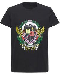 Balmain - Classic Fit コットンジャージーtシャツ - Lyst