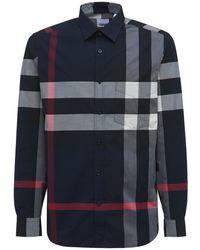 Burberry Somerton ストレッチコットンシャツ - ブルー