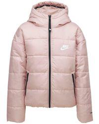 "Nike Gepolsterte Jacke ""therma Fit Classic"" - Pink"