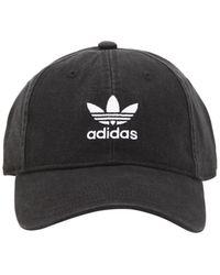 adidas Originals - Adicolor Washed Cotton Baseball Hat - Lyst
