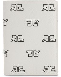 Courreges Porta Pasaporte De Techno Con Estampado - Blanco