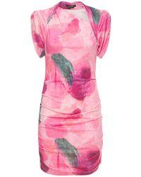 Isabel Marant Короткое Платье Sibara Из Джерси С Принтом - Розовый