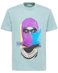 ih nom uh nit Mask On コットンtシャツ - ブルー
