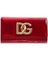 Dolce & Gabbana Кожаная Сумка Dg Millennials - Красный