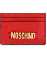 Moschino レザーカードホルダー - レッド