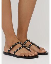 Valentino Garavani 10mm Summer Rockstud Pvc Sandals - Black