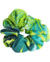 Versace Jungle Print Scrunchie - Grün