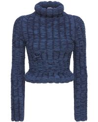 Sunnei Ruched Sweater - Blue