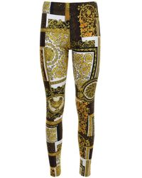 Versace - Leggings Mit Druck - Lyst