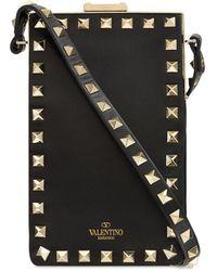 Valentino Garavani Кожаный Чехол Для Телефона Rockstud - Черный