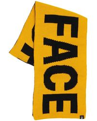 The North Face Reversible Logo Acrylic Scarf - Yellow