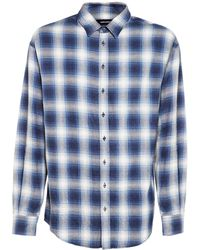 DSquared² Camicia In Cotone Check - Blu