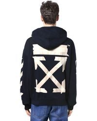 Off-White c/o Virgil Abloh Print Tape Arrows Over Jersey Hoodie - Black