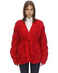 DSquared² Cardigan Oversize En Acrylique Mélangé - Rouge