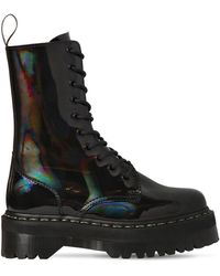 Dr. Martens 40mm Jadon High Patent Leather Boots - Black