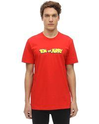 Reebok Tom & Jerry コットンジャージーtシャツ - レッド