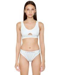 Calvin Klein Cutout Unlined Cotton Jersey Bralette