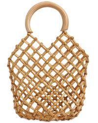 Cult Gaia Emmie Bamboo Net Top Handle Bag - Metallic