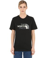 The North Face - Logo Printed Cotton Jersey T-shirt - Lyst
