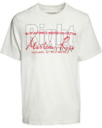 Martine Rose Right Printed Cotton T-shirt - White