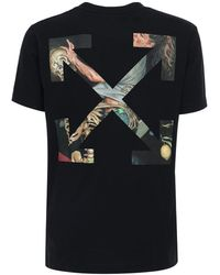 Off-White c/o Virgil Abloh T-shirt Aus Baumwolle Mit Pascal-pfeil-motiv - Schwarz