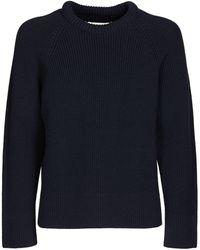 Maison Margiela Cotton & Wool Knit Sweater - Blue