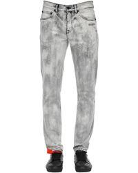 Off-White c/o Virgil Abloh Enge Jeans Aus Baumwolldenim - Grau
