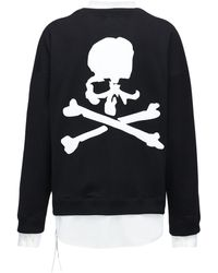 MASTERMIND WORLD Boxy コットンスウェットシャツ - ブラック