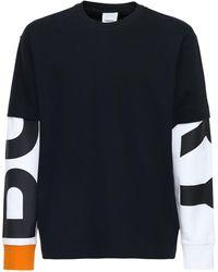 Burberry - コットンジャージーtシャツ - Lyst