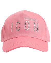 DSquared² Baseballkappe Aus Baumwolle Mit Logo - Pink