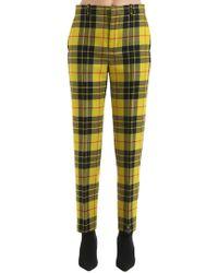 Balenciaga - Tartan Trousers - Lyst