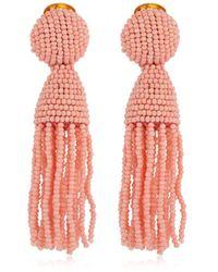 Oscar de la Renta Boucles D'Oreilles En Perles - Rose