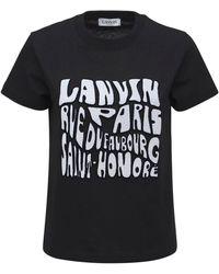 Lanvin コットンジャージーtシャツ - ブラック
