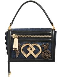 DSquared² - Small Dd Denim Top Handle Bag W/ Charms - Lyst