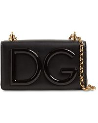 Dolce & Gabbana Dg Girls レザーショルダーバッグ - ブラック