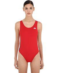 Kappa Banda Auber Logo Bodysuit - Red